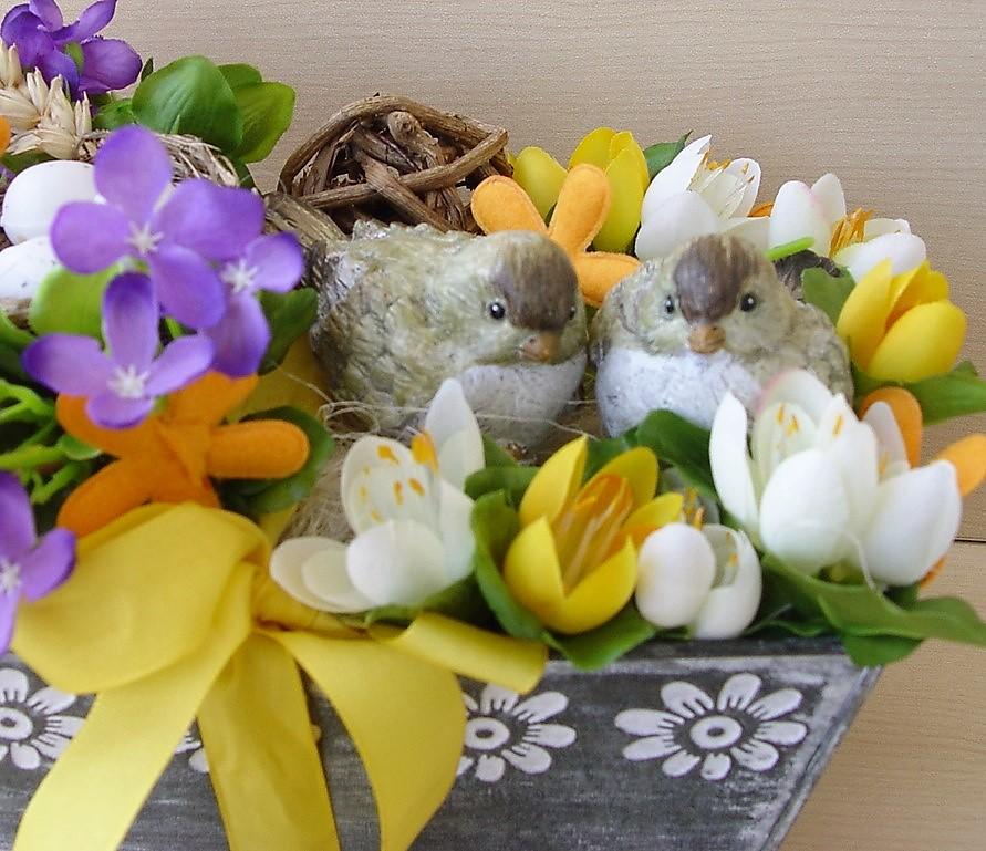 Jarní dekorace z krokusů