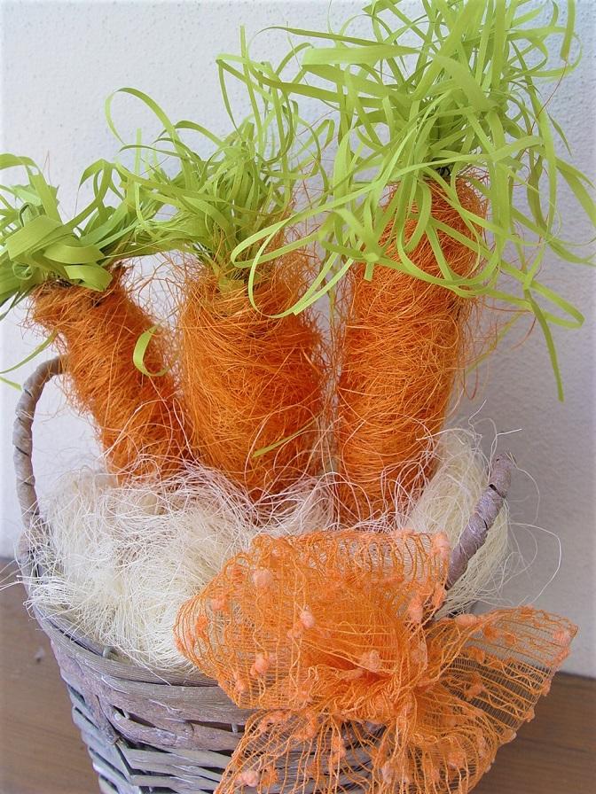 Chytrý nápad: ze sisalu vytvořte mrkev!